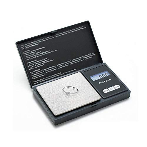 ZOESON Taschenwaage, 500g / 0,01g Digitale Waage Feinwaage Digitalwaage/Goldwaage/Münzwaage, Schwarz