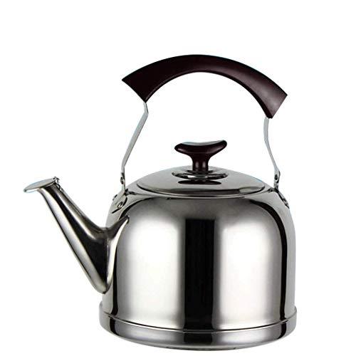 YAMMY Tetera con silbido para hervidor de té para Estufa, Tetera de Acero Inoxidable con Base de ebullición rápida, (Olla Caliente)