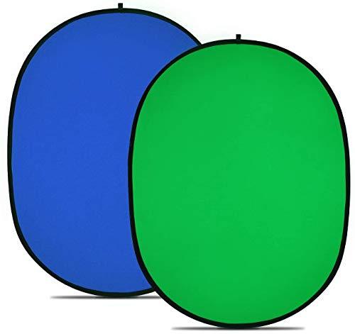 """PHOTO MASTER Chromakey Verde Chromakey Blu Sfondo Pieghevole Sfondo Pieghevole Reversibile 150x200cm/5x7"""" Chroma-Key Blu/Verde"""
