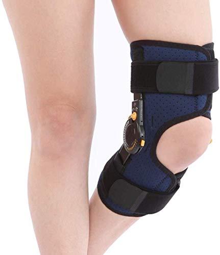 HLR Rodilleras médicas Rodilla Brace textuales, ROM Soporte Ajustable inmovilizador de Rodilla ortopédica de Rodilla Protector for la Fractura del ligamento Strain, lesión de menisco (Size : Medium)