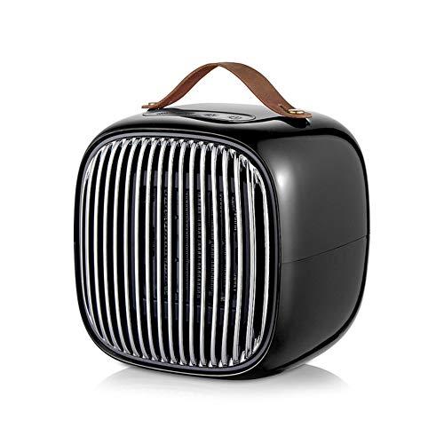 Hewyhat - Radiador eléctrico con asa, 800 W, mini personal, con protección contra sobrecalentamiento, calentamiento rápido en 3 segundos, color negro