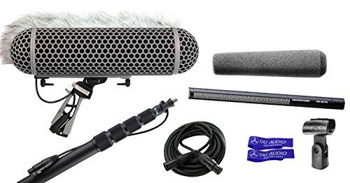 Sennheiser MKH416 P48 Shotgun Microphone Bundle with K-Tek KE110CC Boompole, Rode Blimp, 6