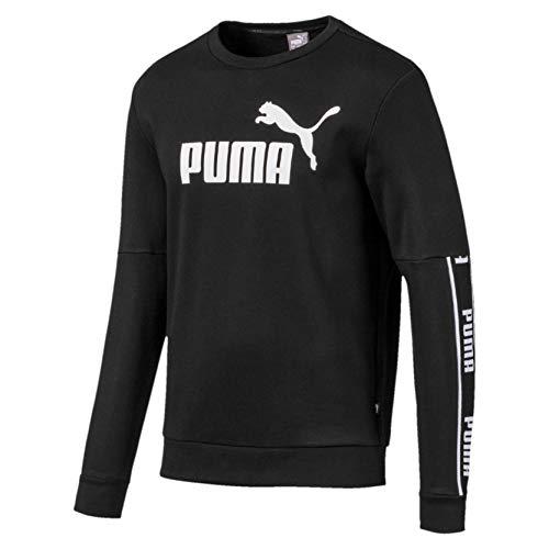 PUMA Amplified Crew FL Sudadera, Hombre, Puma Black, L