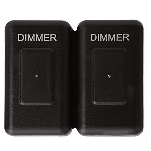 Facon 12Volt DC Touch Dimmer Schalter Verwendung mit LED-Leuchten, Glühlampen und Halogenlampen für Wohnmobil-, Wohnmobil-, Marine- und Lichtbänder (Doppel)