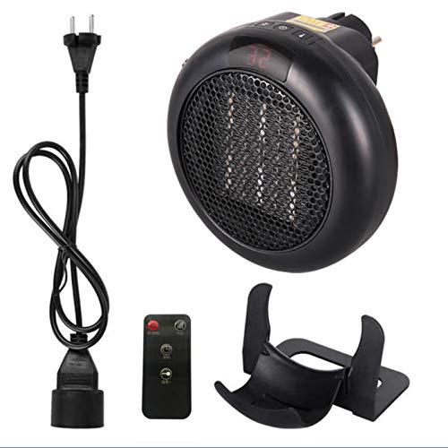 Mini radiador soplador de cerámica portátil 1000 W mini radiador eléctrico con 2 ajustes de velocidad, ventilador eléctrico para oficina en casa