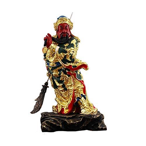 Estatuas de Feng Shui Resina feng shui dinero afortunado fortuna riqueza china guan gong / guan yu oficina decoración de la oficina adornos tabletop ornamentos buenos afortunados regalos Estatua de ri
