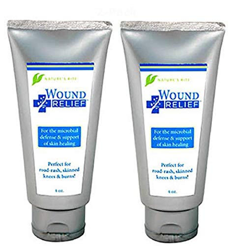 Wound Relief Colloidal Silver Gel 2-Pk with Aloe and Tea for ph Balancing, Care for Scrapes, Burns, Rash, Cysts, Infection, Fight Bacterial Conditions