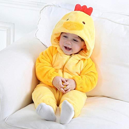 FZH Disfraz de Cosplay de dálmatas para bebé niño Animal Homewear Mono con Cremallera niñas Lindo Kigurumi Cachorro Pijama de Perro-re_12M (12-17 Meses)