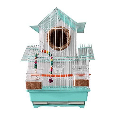 Xiaodou Volière pour Oiseaux Cage à Oiseaux Tiger Parrot Pigeon Cage Villa Cage Cub Cage à Oiseaux Cage d'élevage Perle Portable Petits Oiseaux Sized Cage Voyage Pet Home Nichoir pour Oiseaux
