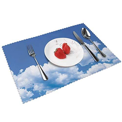 Manteles Individuales Paisaje 504, Mantel Individual Antideslizante Resistente Al Calor Salvamanteles Juego De 4 para La Mesa De Comedor De Cocina, 45x30 Cm