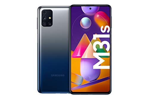 Samsung Galaxy M31s Android Smartphone ohne Vertrag, Quad-Kamera, 6,5 Zoll Infinity-O Super AMOLDED Display, starker 6.000 mAh Akku, 128 GB/6GB, Handy in Blau, deutsche Version exklusiv bei Amazon