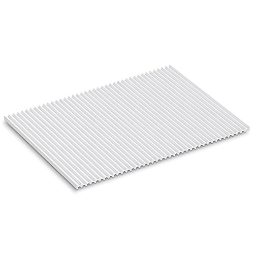 KOHLER Storable Large Silicone Dish Drying Mat 11' x 15', Heat Resistant up to 500 Degrees F, White - K-5472-0