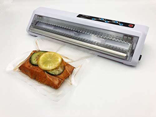 VACU Basic Machine à emballer sous vide pour aliments sous vide avec 10 sacs et tuyau