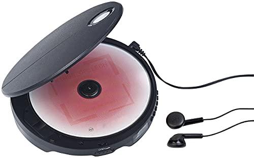 auvisio Portable CD Player Anti Shock: Tragbarer CD-Player mit Anti-Shock, Bass Boost und In-Ear-Kopfhörern (Mobiler CD Player)