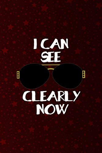 I Can See Clearly Now: Notebook Journal Composition Blank Lined Diary Notepad 120 Pages Paperback Red Stars Texture Sunglasses