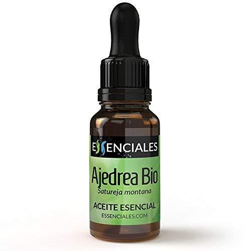 Essenciales - Aceite Esencial de Ajedrea BIO, 100% Puro y con Certificado ECOLÓGICO, 10 ml | Aceite Esencial Satureja Montana