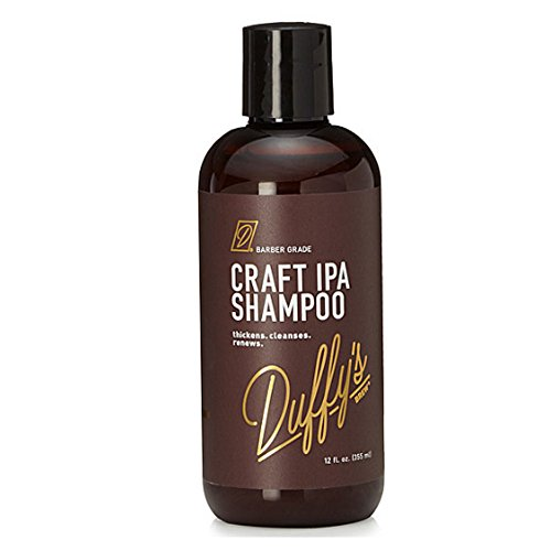 Duffy's Brew Premium IPA Craft Beer Shampoo - Featured in People StyleWatch, Playboy, InStyle & Men's Health… Sulfate, Paraben & Phthalate Free. 100% Vegan. Nourishes, Protects & Color Safe (12 fl oz)
