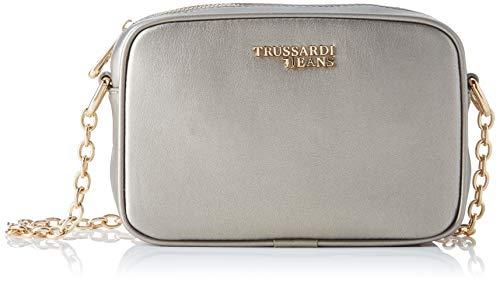 Trussardi Jeans Baby Cube Cacciatora Md Ecolea, Borsa a tracolla Donna, Grigio (Anthracite), 6x15x20 cm (W x H x L)