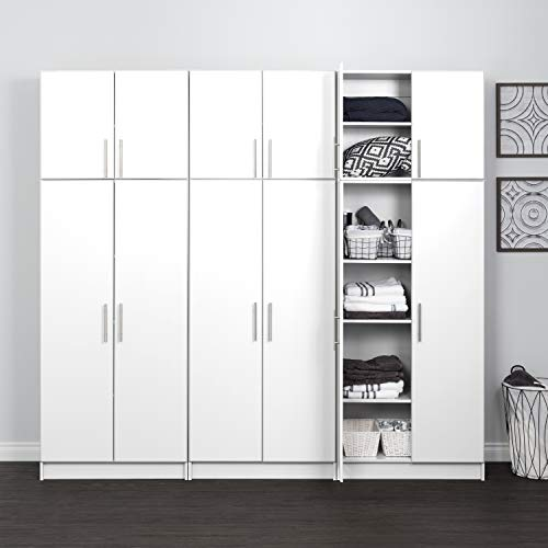 Prepac D Elite Storage Cabinet Set, 6 pc, White