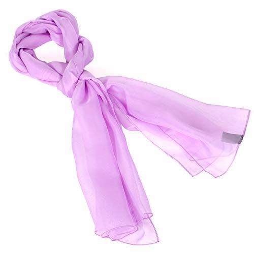 Chiffon scarf women - Sheer lightweigt solid neck evening bridal head scarf shawl, Lavender
