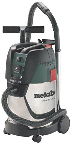 Metabo Allessauger ASA 30 L PC Inox (602015000) Karton; mit manueller Filterabreinigung, Luftleistung max.: 3600 l/min, Unterdruck: 210 hPa (mbar), Filterfläche: 3000 cm²