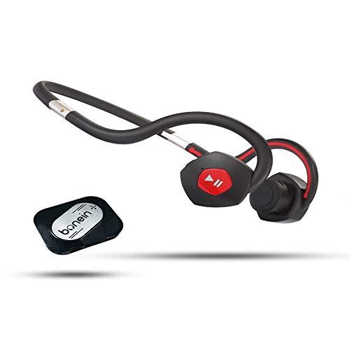 RGXY Auriculares de conducción ósea, Auriculares Bluetooth inalámbricos de conducción ósea, TV de Bluetooth Deportivo Bluetooth Batería incorporada Amplificador Audífono Audífono Auriculares, Negro