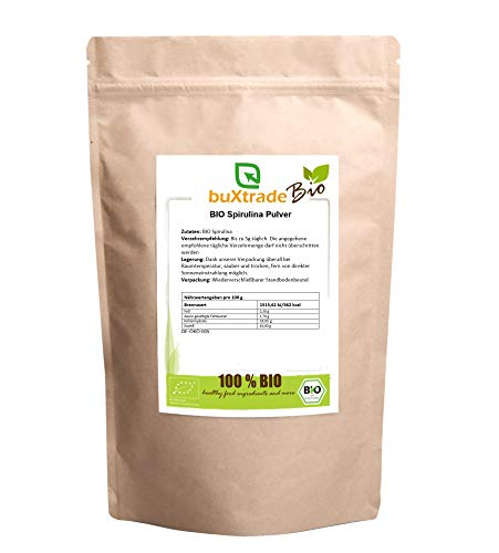 BIO Spirulina Pulver | Alge | Buxtrade | Superfoods | Vegan | 100g
