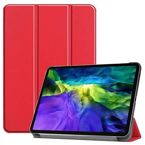 """Jennyfly Étui fin en cuir PU pour Samsung Galaxy Tab S4 10.5"""" SM-T830/SM-T835 avec support intégré pour tablette Samsung Galaxy Tab S4 10.5"""" (SM-T830/SM-T835) Rouge"""