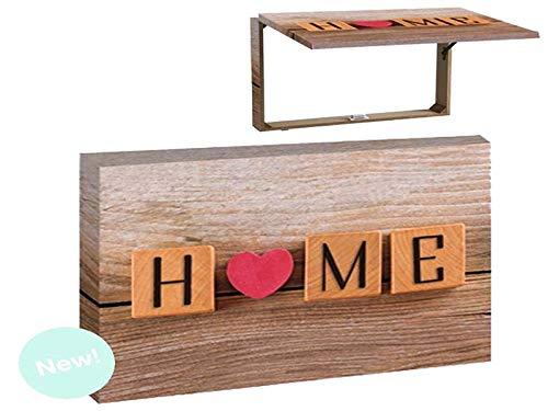 Tapa para Cuadro de luz Madera diseño Home Corazón 46x7x32 Centímetros