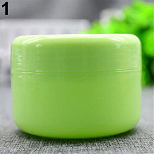 Lot de 5 pots de voyage vides pour crèmes, lotions visage, maquillage vert Green 20