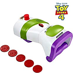  Gear up like Buzz Lightyear with this authentic disc launcher The role-play toy blasts projectiles, has laser beam lights and emits sounds to enhance the fun Comes in iconic white, green and purple with an easy grip handle and adjustable strap for ...