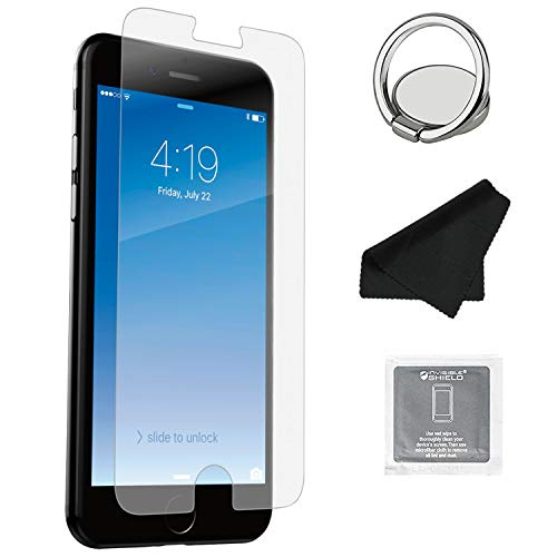 ZAGG InvisibleShield Glass+ Screen Protector, Fits iPhone 8 / iPhone 7 / iPhone 6s / iPhone 6 – Extreme Impact & Scratch Protection – Easy To Apply Tools Included – Seamless Touch Sensitivity - 2 PACK