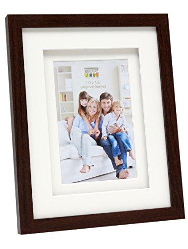Deknudt Frames S65KQ1 Bilderrahmen 10x15 Holz Braun, doppeltes Pptt Holz Fotokader