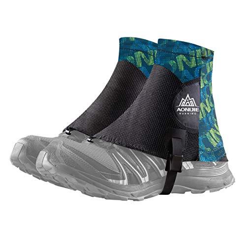 Azarxis Reflektierende Trail Low Gaiters, Gamaschen mit UV-Schutz und Atmungsaktiv für Damen und Herren, Wandern, Klettern (Grün)