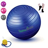 Home Circles Extra Thick Birthing Ball Pregnancy 65cm - Big Yoga Birth Ball for Pregnancy and Labor - Grip Socks & PDF Exercise Ball Guide - Anti Burst Gym Quality Balance Ball, Stability Ball