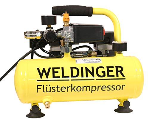 WELDINGER Flüster Kompressor FK 40 compact 275 W Luftabgabe 32 l/min Airbrush systainerfähig ölfrei