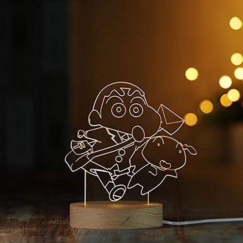 Crayon Pequeña Nueva Serie Decoración 3D Pequeña Luz de Noche de Madera Sólida LED Control Remoto Lámpara de Mesa Creativo Regalo