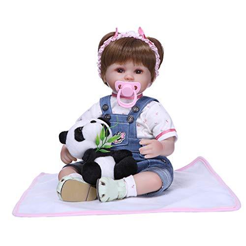 Sharplace Realista Reborn Baby Girl Doll 22 Pulgadas Vinilo de Tacto Suave como Silicona para Niños Cumpleaños Favores de Fiesta