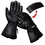 Hand Fellow - Guanti da moto in pelle di alta qualità, impermeabili, con fodera termica, adatti per l'inverno, antivento