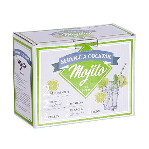 Table Passion - Coffret special mojito (2 verres 40 cl et 9 accessoires)