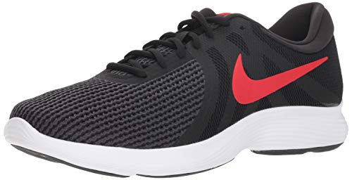 Nike Men's Revolution 4 Running Shoe, Black/University red - Oil Grey, 12 Regular US