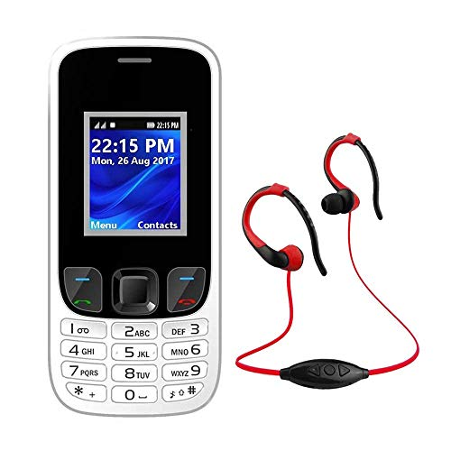 IKALL K29 Basic Feature Phone White 64MB and Neckband MP3FM