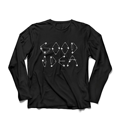lepni.me Camiseta de Manga Larga para Hombre Una Idea Buena - Diseño Divertido para Frikis y empollón, Idea Perfecta de Regalo Divertido (XXX-Large Negro Multicolor)