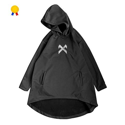 Kleidung Creative-Windjacke Mantel Mantel Dunkel-Windjacke Jacke Der Männer In Der Langen Abschnitt Hip-Hop-Gezeiten Markenjacke Taktische (Color : Black, Size : M)
