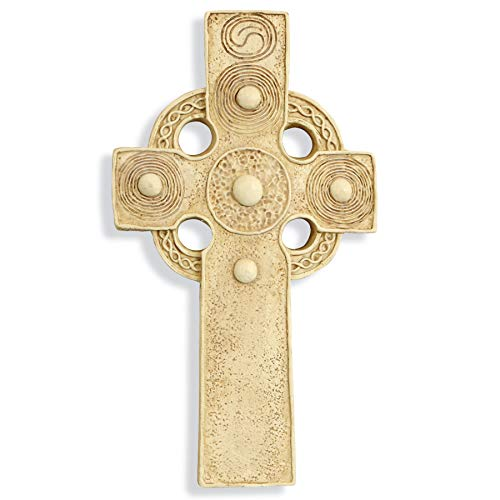 Celtic Sun Cross, Wall Plaque, 11.5 Inches