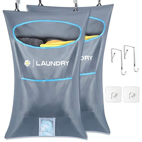 Lemecima 2 bolsas para cesto de ropa para colgar en la