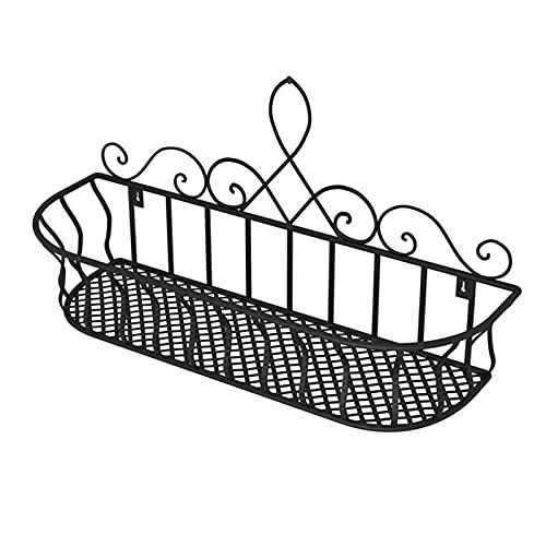 BRAND NEWS Porta fioriera da Balcone, Porta fioriera per Finestra, Rete in Ferro Balcone Vaso da Fiori Ringhiera Scaffale Portavaso per Ufficio Casa Balcone Decorazione da Giardino Durevole