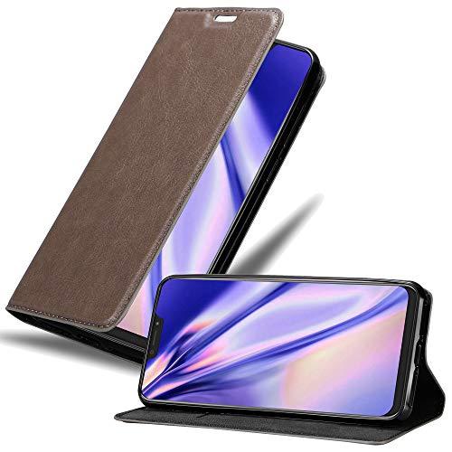 Cadorabo Hülle für Asus ZenFone 5Z in Kaffee BRAUN - Handyhülle mit Magnetverschluss, Standfunktion & Kartenfach - Hülle Cover Schutzhülle Etui Tasche Book Klapp Style