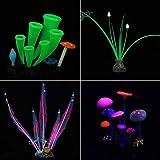 yidenguk Fish Tank Decoraciones, 4 pc Acuario decoración de Silicona Glow Fish Tank Accesorios simulación