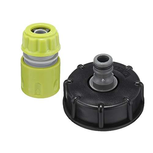 YUXIwang Válvula de contenedor S60X6 adaptador de jardín planta de agua válvula de bola para grifo de agua tapa con rosca macho accesorios de conexión herramienta